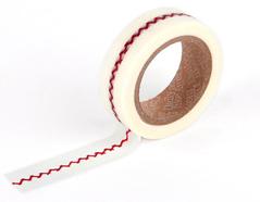 DMT1S14 Cinta adhesiva masking tape washi herrinbone stitch Dailylike