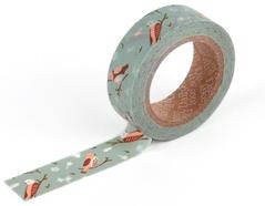 DMT1S18 Cinta adhesiva masking tape washi cozy bird Dailylike