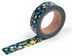 DMT1S21 Cinta adhesiva masking tape washi navy Dailylike