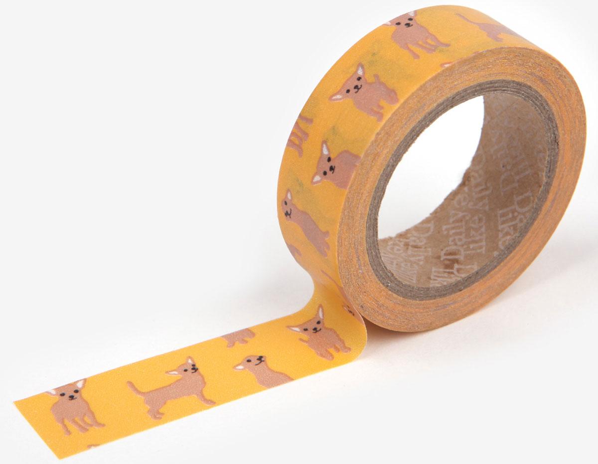 DMT1S31 Cinta adhesiva masking tape washi chihuahua Dailylike