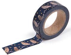 DMT1S33 Cinta adhesiva masking tape washi owl family Dailylike