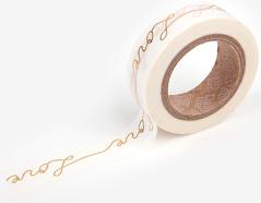 DMT1S39 Cinta adhesiva masking tape washi love gold Dailylike