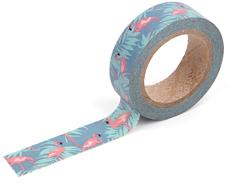 DMT1S44 Cinta adhesiva masking tape washi flamingo Dailylike