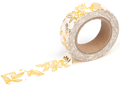 DMT1S46 Cinta adhesiva masking tape washi little bamboo gold Dailylike