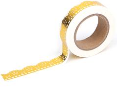 DMT1S49 Cinta adhesiva masking tape washi lily gold Dailylike
