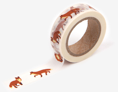 DMT1S50 Cinta adhesiva masking tape washi winter fox Dailylike