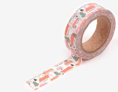 DMT1S67 Cinta adhesiva masking tape washi czech village Dailylike