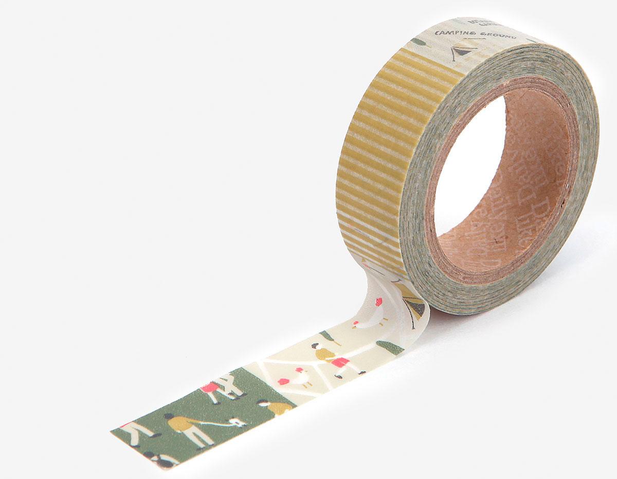 DMT1S70 Cinta adhesiva masking tape washi camping map Dailylike