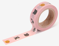 DMT1S76 Cinta adhesiva masking tape washi kitty Dailylike