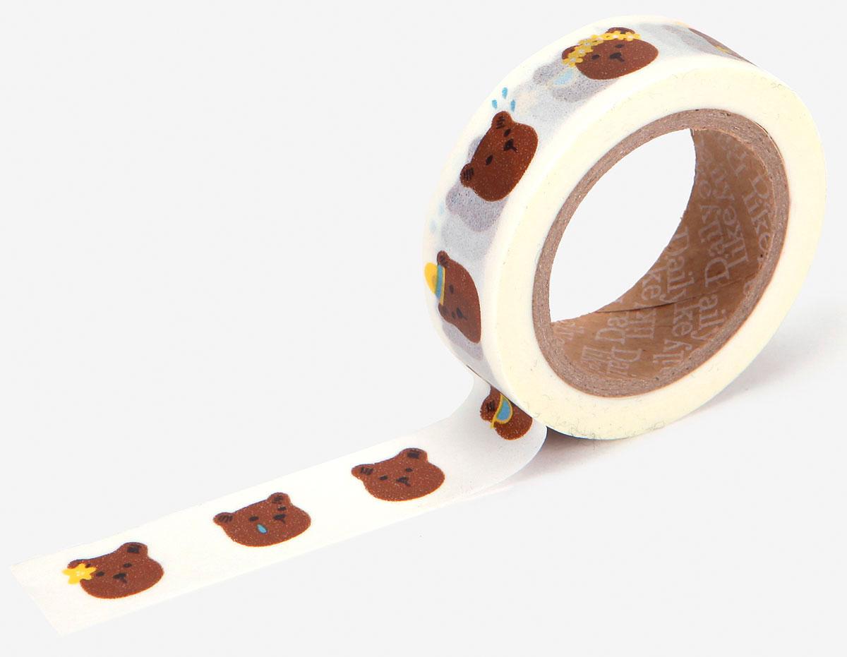 DMT1S78 Cinta adhesiva masking tape washi bear face Dailylike