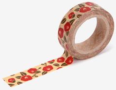 DMT1S81 Cinta adhesiva masking tape washi camelia flower Dailylike