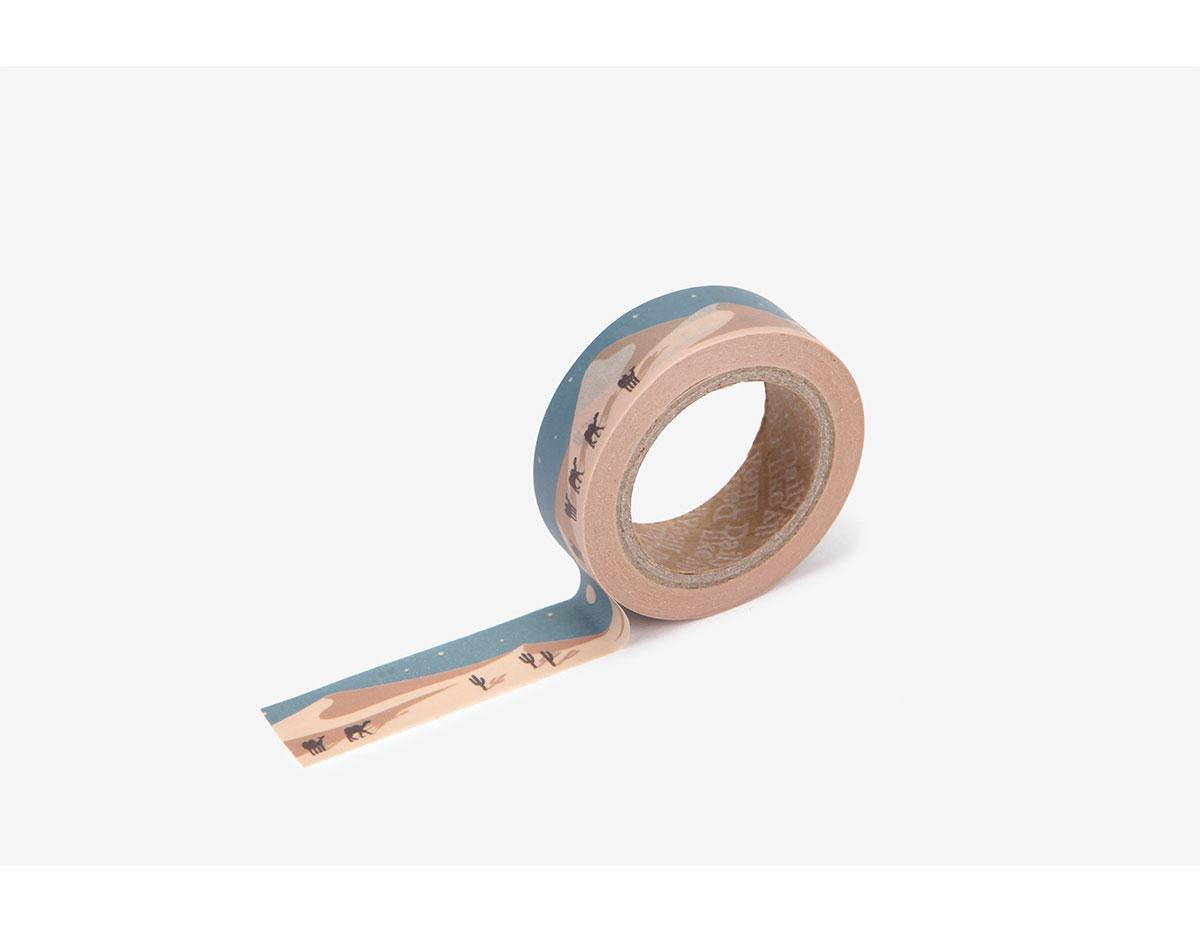 DMT1S86 Cinta adhesiva masking tape washi desert Dailylike