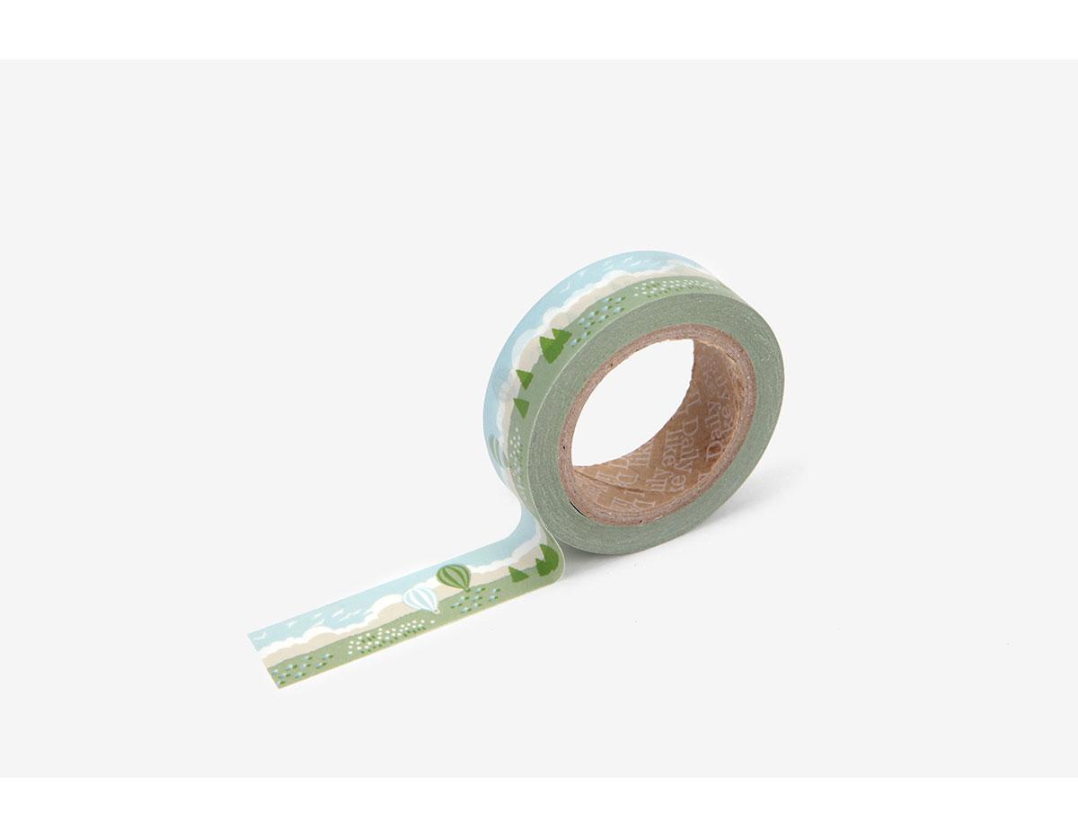 DMT1S87 Cinta adhesiva masking tape washi cloud Dailylike