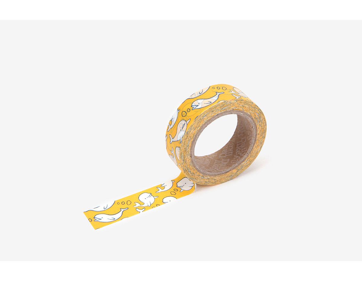 DMT1S89 Cinta adhesiva masking tape washi beluga Dailylike