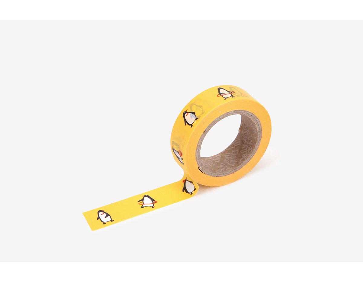 DMT1S92 Cinta adhesiva masking tape washi penguin Dailylike