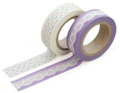 DMT2S08 Set 2 cintas adhesivas masking tape washi lily Dailylike