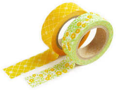 DMT2S18 Set 2 cintas adhesivas masking tape washi lemon tree Dailylike