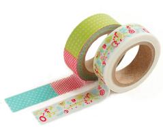 DMT2S20 Set 2 cintas adhesivas masking tape washi fantasy Dailylike
