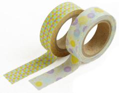 DMT2S21 Set 2 cintas adhesivas masking tape washi summer rain Dailylike