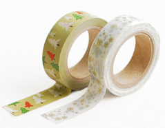 DMT2S28 Set 2 cintas adhesivas masking tape washi winter green Dailylike