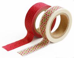 DMT2S30 Set 2 cintas adhesivas masking tape washi scarlet Dailylike