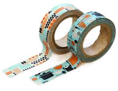 DMT2S34 Set 2 cintas adhesivas masking tape washi kamone dinner Dailylike