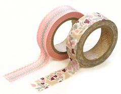 DMT2S37 Set 2 cintas adhesivas masking tape washi botanic garden Dailylike