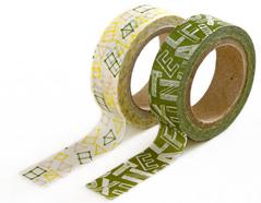 DMT2S39 Set 2 cintas adhesivas masking tape washi puzzle Dailylike