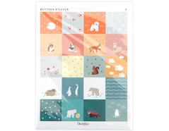 DPS09 Pegatinas papel pattern sticker animal formas y disenos surtidos Dailylike
