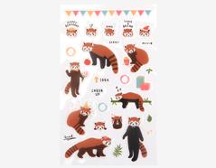 DPS11 Pegatinas pvc daily sticker lesser panda formas y disenos surtidos Dailylike