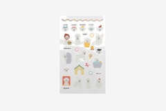 DPS32 Pegatinas pvc daily sticker bichon frise formas y disenos surtidos Dailylike