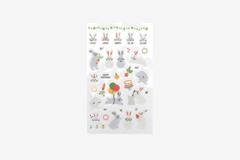 DPS38 Pegatinas pvc daily sticker rabbit formas y disenos surtidos Dailylike - Ítem