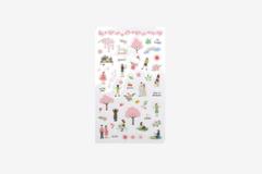 DPS42 Pegatinas pvc daily sticker cherry blossom formas y disenos surtidos Dailylike