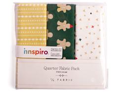 DQF60 Set 3 telas precortadas quarter pack de algodon ginger man Dailylike