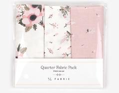 DQF82 Set 3 telas precortadas quarter pack de algodon little bride Dailylike