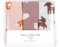 DQF83 Set 3 telas precortadas quarter pack de algodon animal1 Dailylike