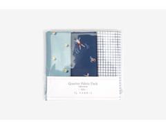 DQF97 Set 3 telas precortadas quarter pack de algodon a great holiday Dailylike