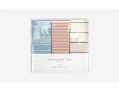 DQF98 Set 3 telas precortadas quarter pack de algodon creamy line Dailylike