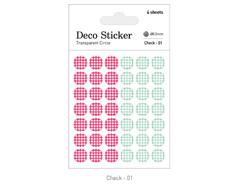 DSTC01 Pegatinas papel redondas check 01 en hojas Dailylike