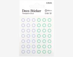 DSTC23 Pegatinas papel redondas circle 02 en hojas Dailylike