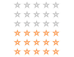 DSTC31 Pegatinas papel estrellas star line 01 en hojas Dailylike