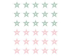 DSTC32 Pegatinas papel estrellas star line 02 en hojas Dailylike