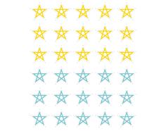 DSTC33 Pegatinas papel estrellas star line 03 en hojas Dailylike