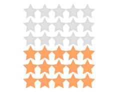 DSTC34 Pegatinas papel estrellas star solid 01 en hojas Dailylike