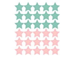 DSTC35 Pegatinas papel estrellas star solid 02 en hojas Dailylike