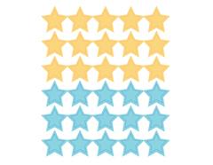 DSTC36 Pegatinas papel estrellas star solid 03 en hojas Dailylike