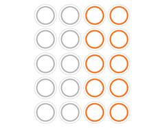 DSTC37 Pegatinas papel redondas line 01 en hojas Dailylike