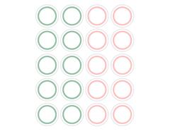 DSTC38 Pegatinas papel redondas line 02 en hojas Dailylike