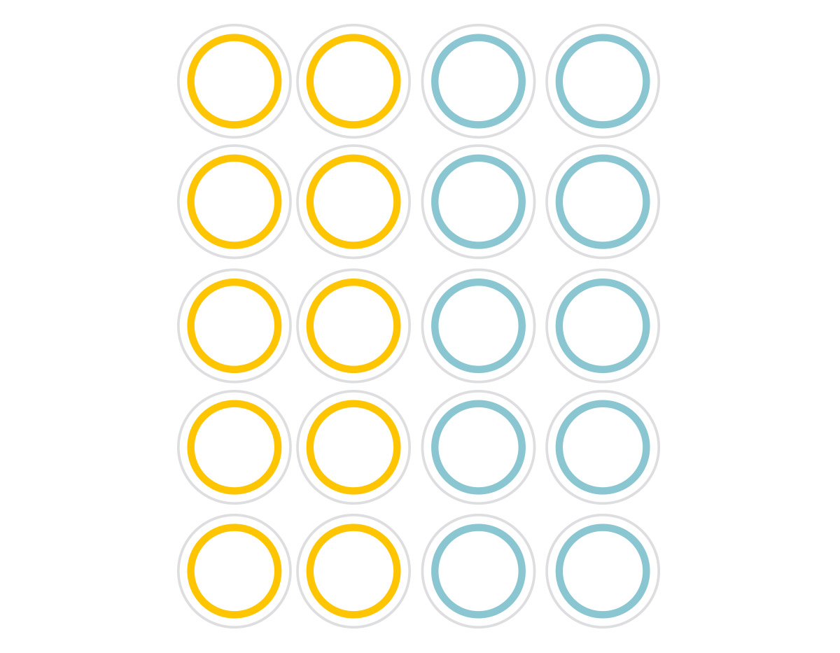 DSTC39 Pegatinas papel redondas line 03 en hojas Dailylike