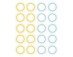 DSTC39 Pegatinas papel redondas line 03 en hojas Dailylike - Ítem